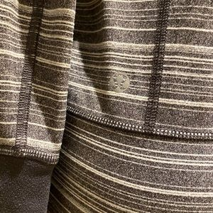 lululemon athletica Jackets & Coats - Lululemon Grey and White Striped Jacket